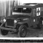 "The CJ-4MA shows us the first time for the 101-inch wheelbase stretch and is both an ancestor to the M-170 (MDA) and the CJ-6. It's also the missing link between the flatfender and roundfender Jeep. A small number of prototypes were built with this front wrap prior to the final and more familiar CJ style was settled upon. Several of these early ""missing link"" prototypes still exist, including the civilian CJ-4 prototype and this one. Under the skin the CJ-4, CJ-4M (both 81 inch wheelbases), were very much like a CJ-3A but mounting the new F-head engine."