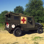 The M-170 frontline ambulance was the military forefather of the CJ-6 and some 12,221 were built between 1953 and 1967. Bill Price's military experience, both active and reserve, may have included exposure to the M-170 and primed his mind for the CJ-6 later on. One big difference between the M-170 and the CJ-6 is the enlarged opening on the passenger side for attending to patients and moving litters. The M-170 could carry either three litters and two crew or six seated patients and two crew.